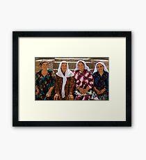 Posing  Framed Print