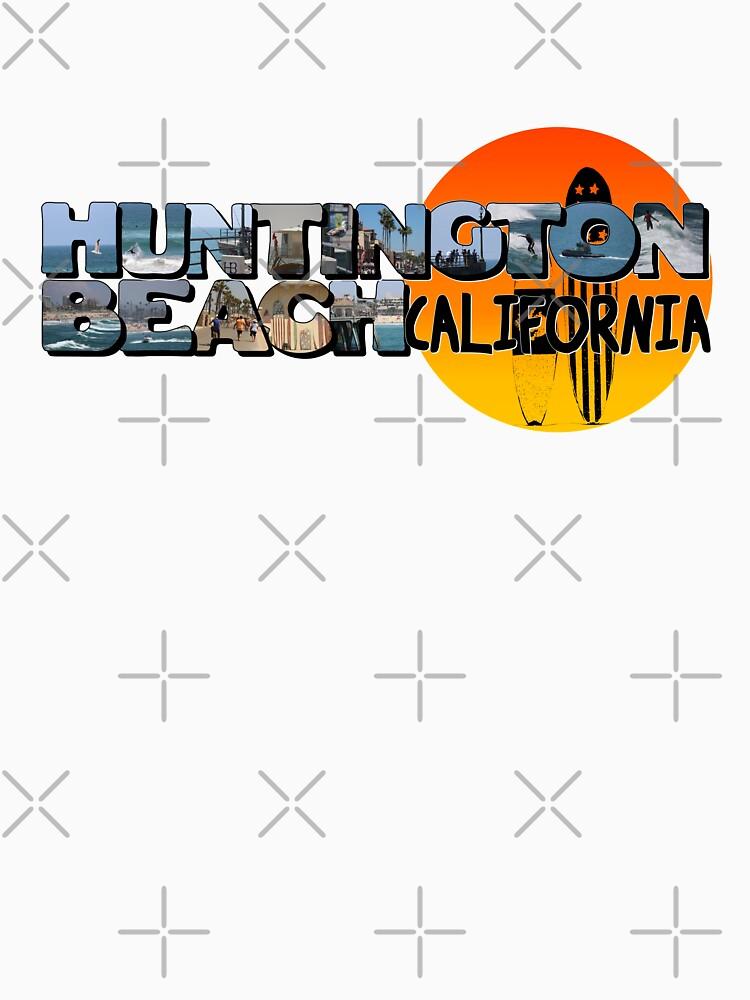 Huntington Beach California Big Letter with Sun by ButterflysAttic