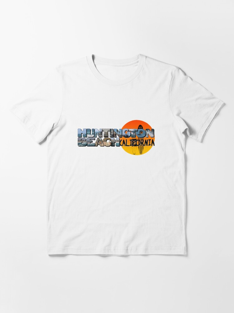 Alternate view of Huntington Beach California Big Letter with Sun Essential T-Shirt
