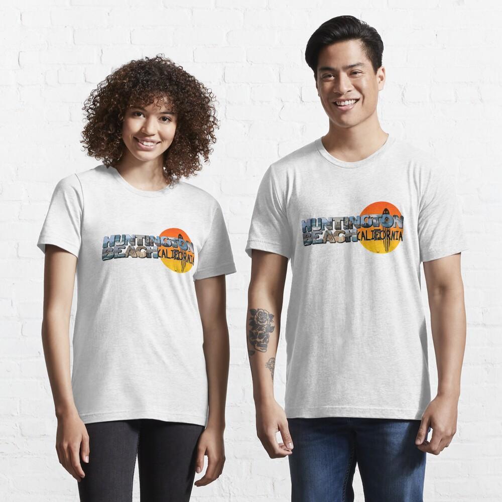 Huntington Beach California Big Letter with Sun Essential T-Shirt