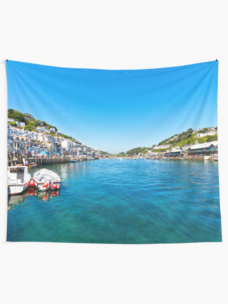 Looe Cornwall Turquoise Sea Canvas Wall Art Picture Print