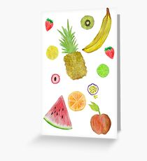 Fruit Fight! Greeting Card
