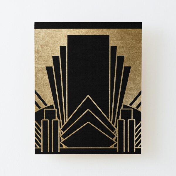 Design Art déco Impression montée sur bois
