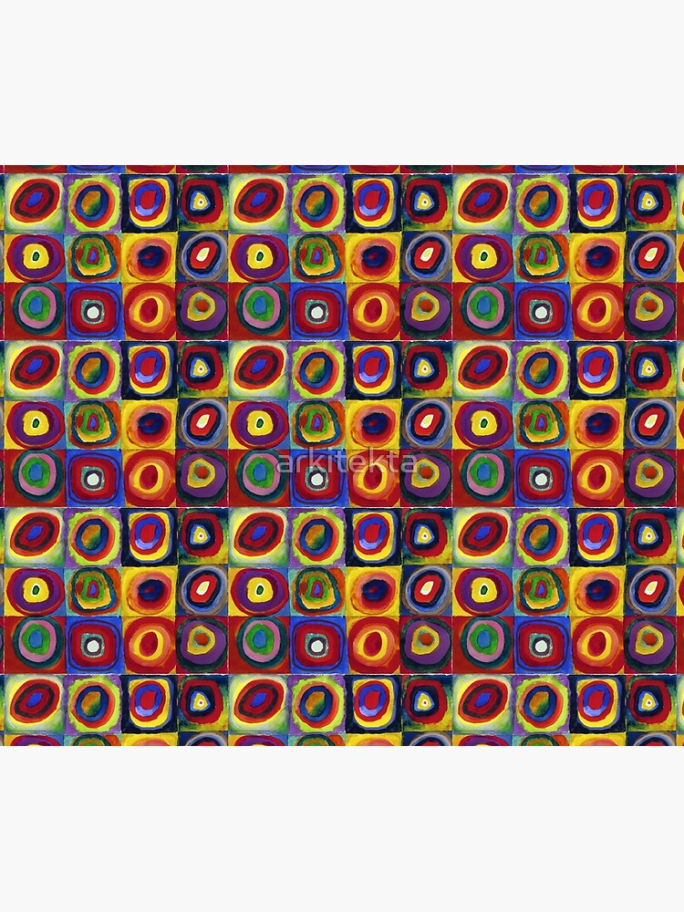 Color Study: Squares with Concentric Circles by Wassily Kandinsky by arkitekta