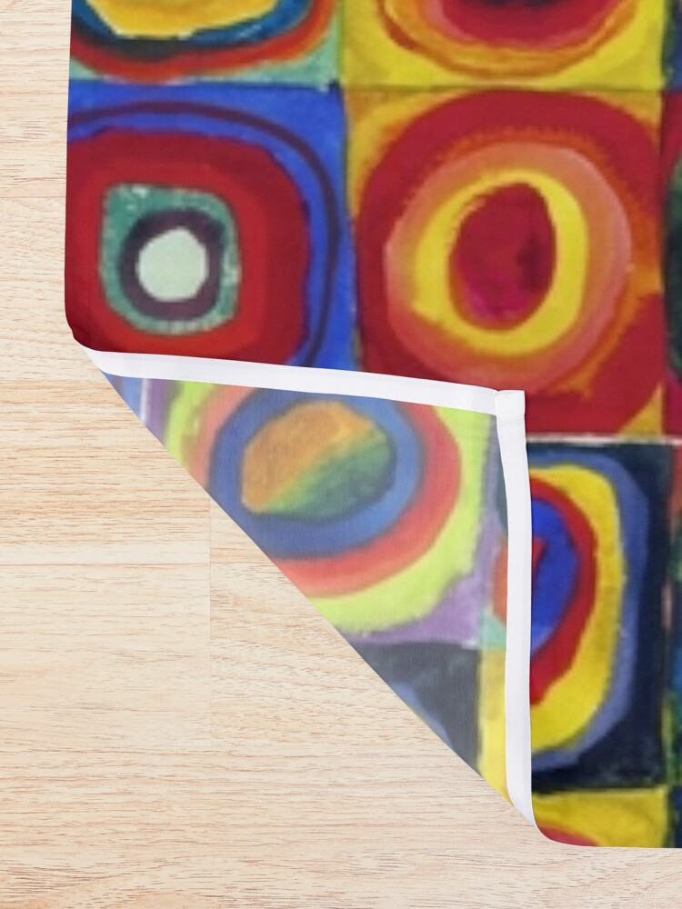Alternate view of Color Study: Squares with Concentric Circles by Wassily Kandinsky Shower Curtain