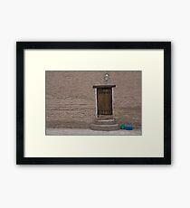 Khiva doorway Framed Print