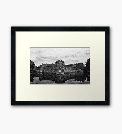 Beaumaris Castle B/W edit Framed Print