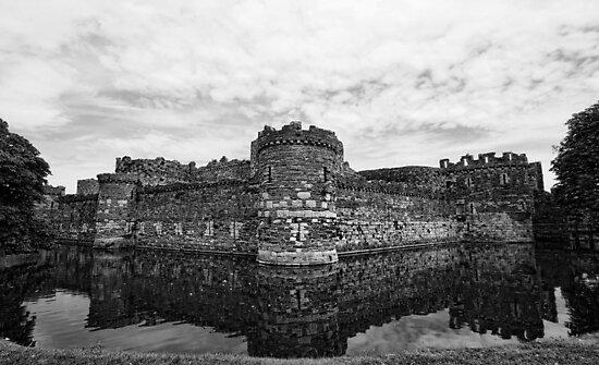 Beaumaris Castle B/W edit by Julesrules