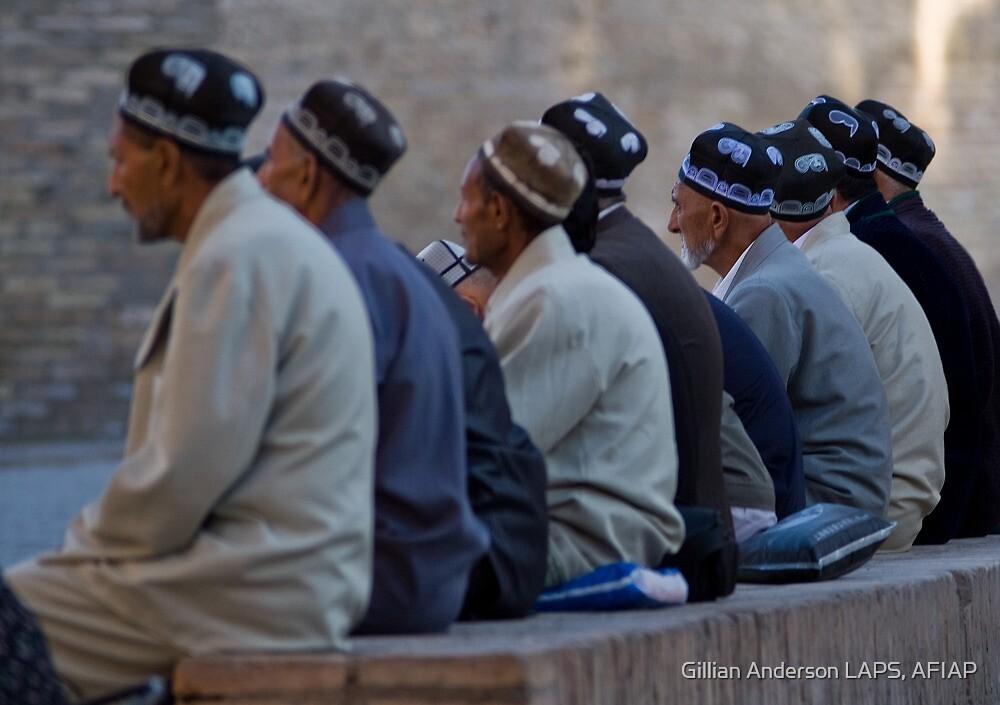 Uzbeks in Khiva by Gillian Anderson LAPS, AFIAP