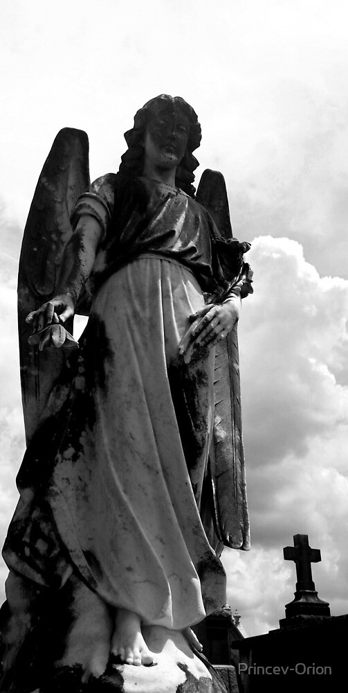Angel of Metairie Cemetary by Princev-Orion