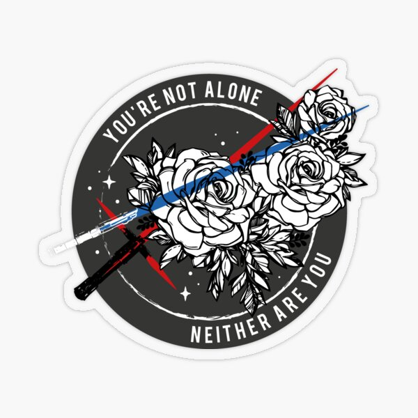 REYLO x YOU'RE NOT ALONE Transparent Sticker