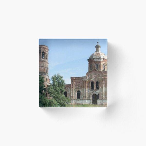 Basilica  Pattern Acrylic Block