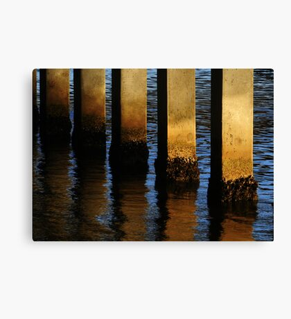 Pier Reflections From Jupiter Canvas Print