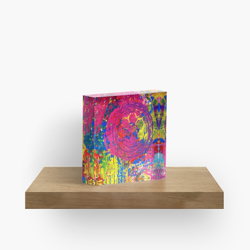 The Chaos of Anxiety  Acrylic Block