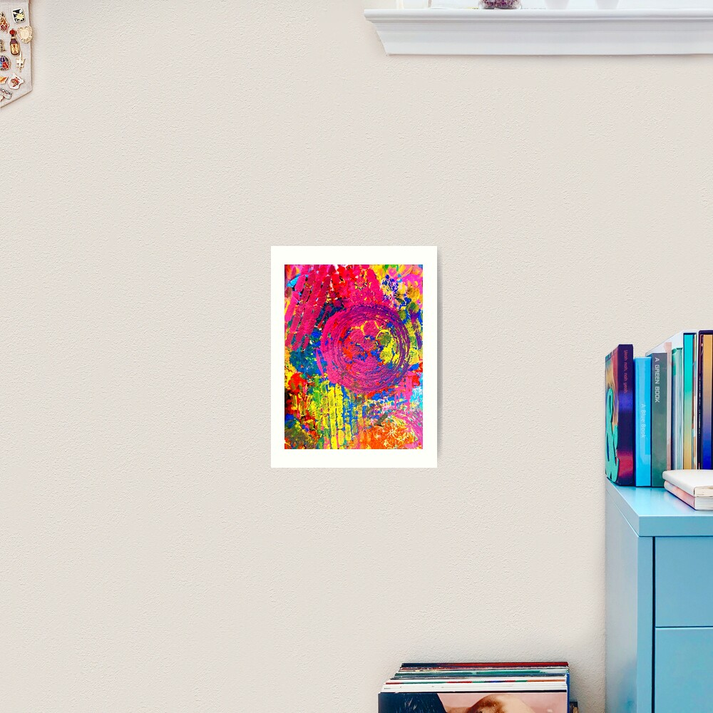 The Chaos of Anxiety  Art Print