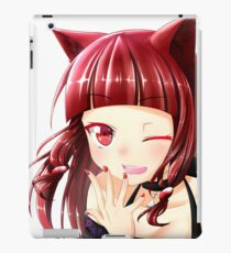 Fille chat Coque et skin iPad