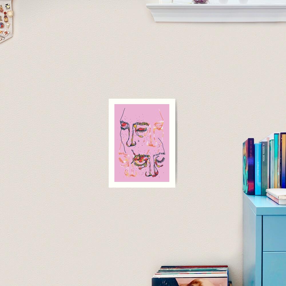Sleepy People Art Print