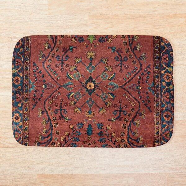 Bronze Persian Carpet - Persian Vintage Antique Carpet Nature Fine Art Bath Mat