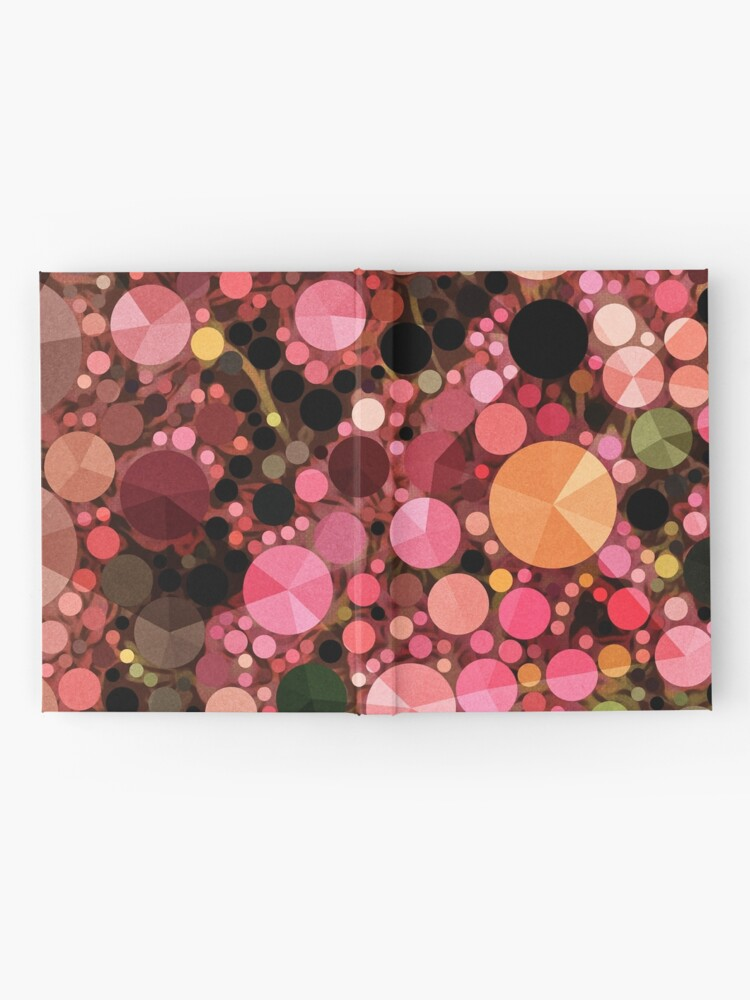 Alternate view of Abstract Art - Geometric Bubbles  Hardcover Journal