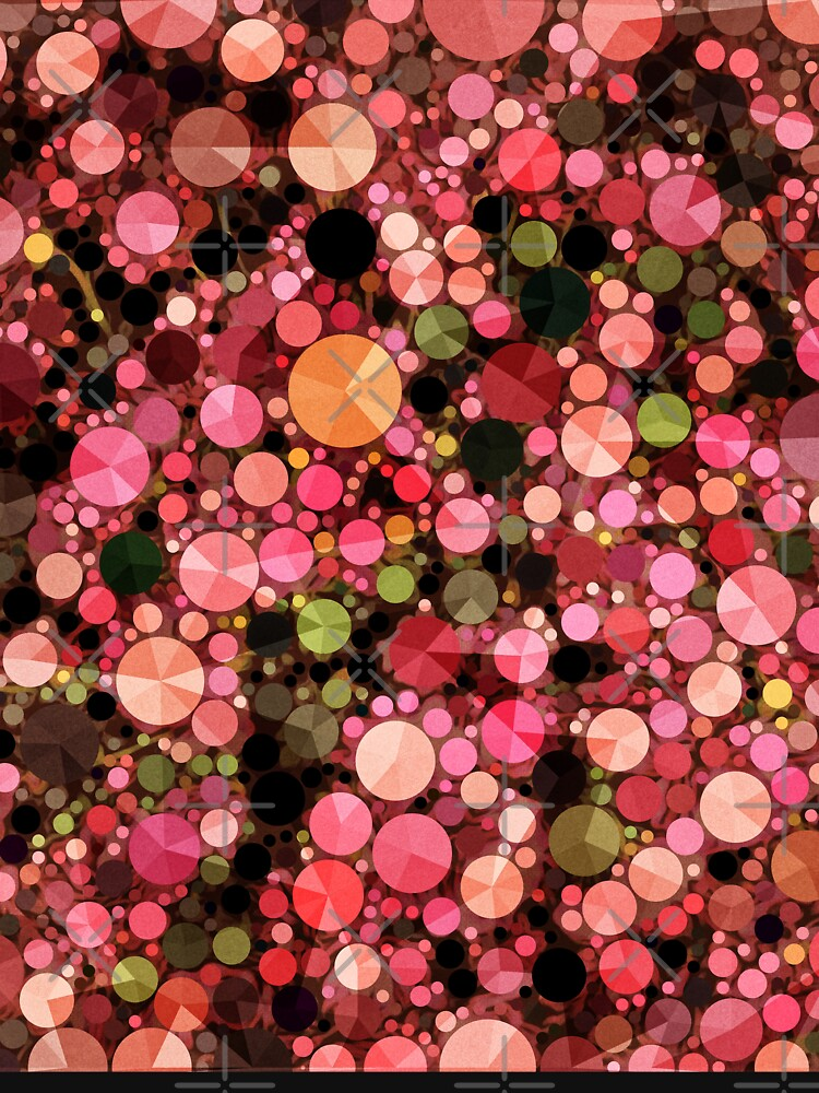 Abstract Art - Geometric Bubbles  by OneDayArt