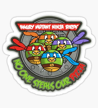 Angry Mutant Ninja Birds Sticker