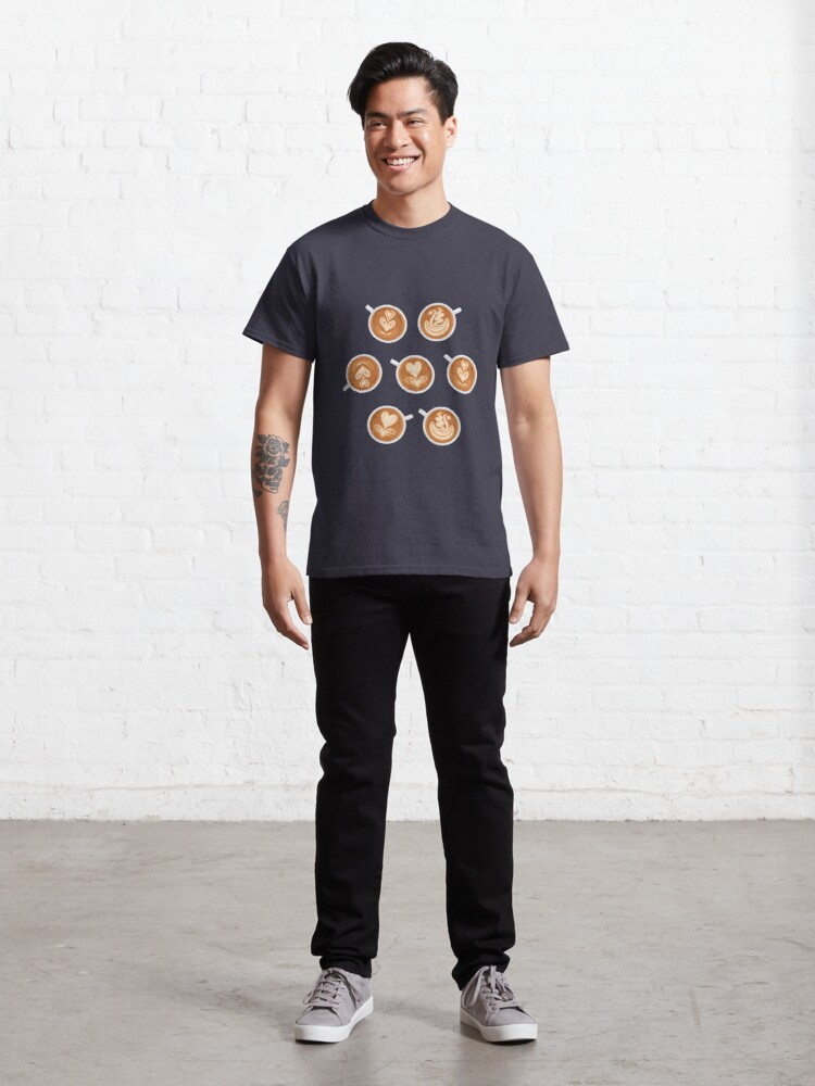 Alternate view of Coffee Art Cups Classic T-Shirt