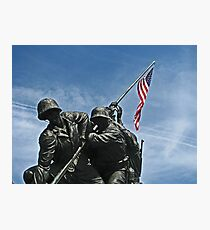 A Salute to our Marines Photographic Print