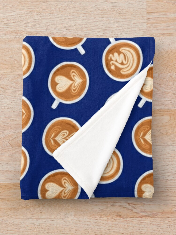 Alternate view of Coffee Art Cups Throw Blanket