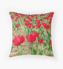 Spring Tulips - Netherlands Carillon Throw Pillow