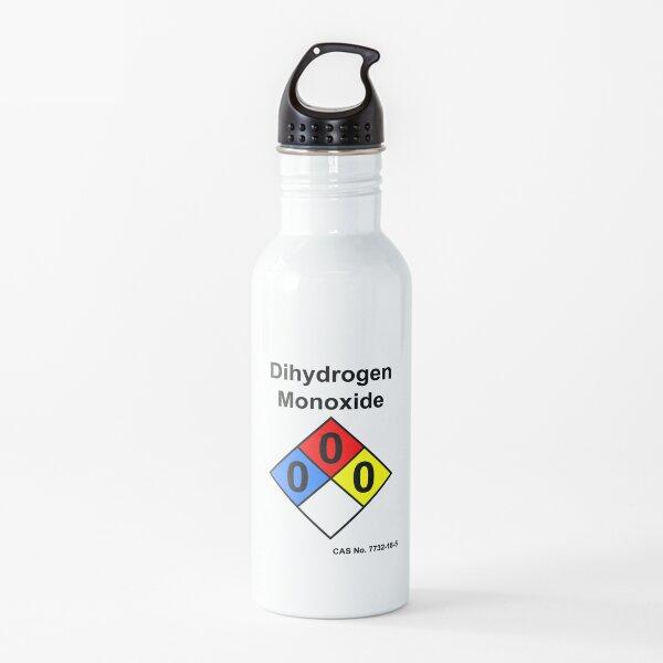 Dihydrogen Monoxide Diamond Chemical Warning Label H2O Joke Water Bottle