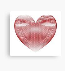 Calligraphic Heart Canvas Print