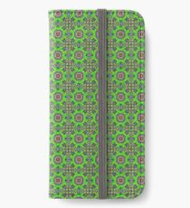 Green fabric iPhone Wallet/Case/Skin