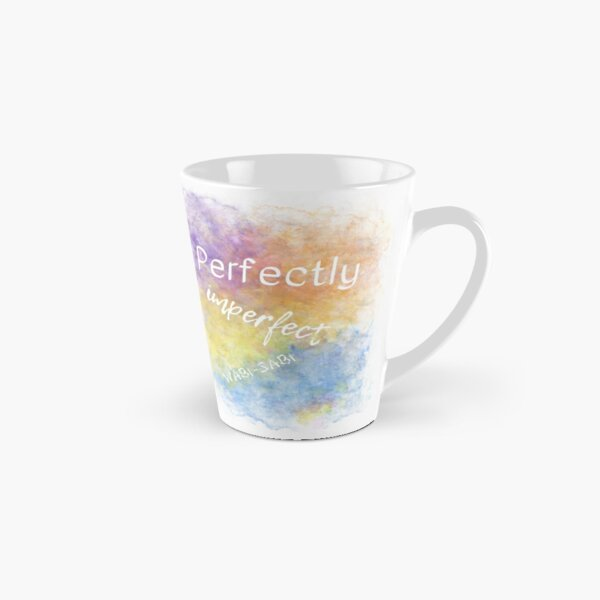Perfectly Imperfect - Wabi-Sabi (white) Motivational Tall Mug