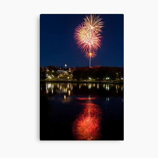 Small Town Fireworks Canvas Print