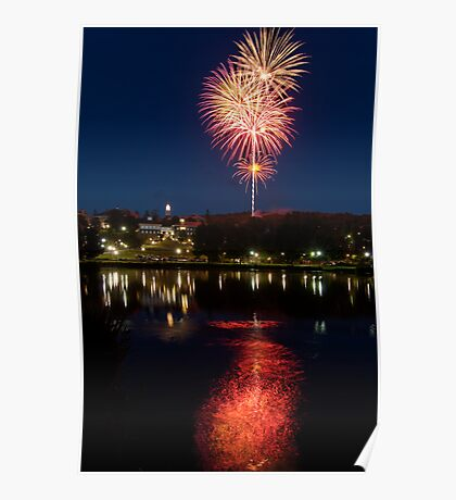 Small Town Fireworks Poster