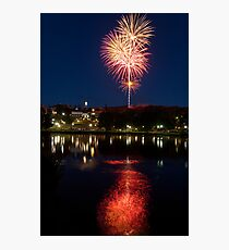 Small Town Fireworks Photographic Print