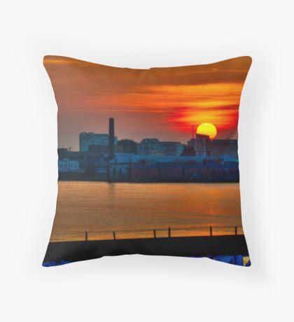 Thames Sunrise - London, UK. Throw Pillow