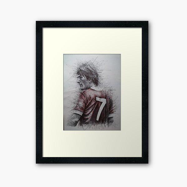 Kenny Dalglish portrait  Framed Art Print