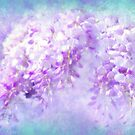 Wisteria Afternoon, Lavender Floral, Aqua Air by Glimmersmith