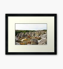 Writing-on-Stone in Autumn Framed Print