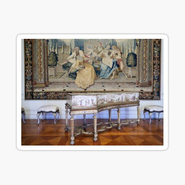 Das Musikzimmer mit Cembalo. Schloss Charlottenburg. Berlin Sticker