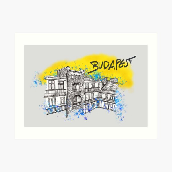 Budapest - Ungarn Kunstdruck
