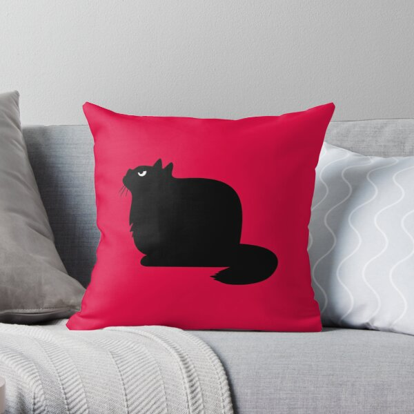 Angry Animals: Fat Cat  Throw Pillow