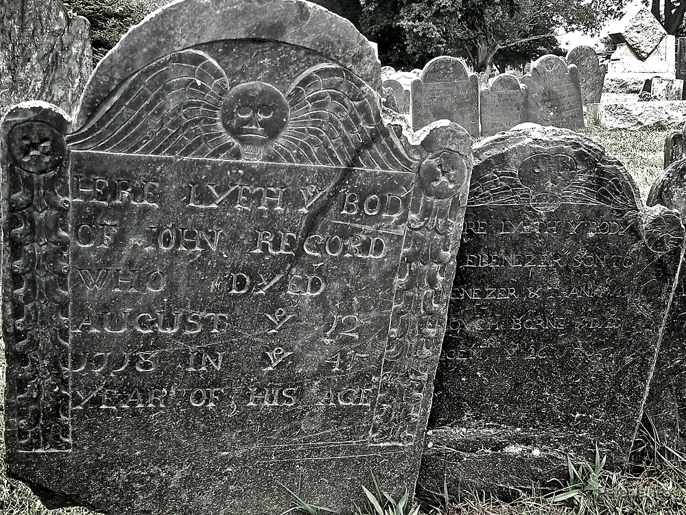 John Record grave, Farewell Street, Newport Rhode Island by Pete Janes