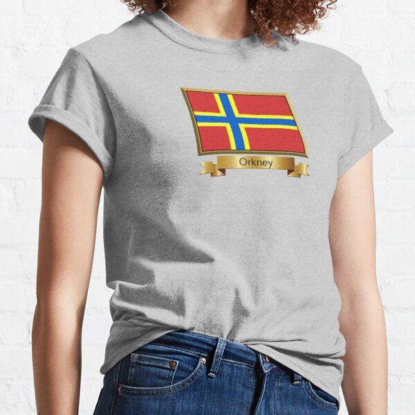 Orkney Named Flag Stickers, Gifts and Products Classic T-Shirt