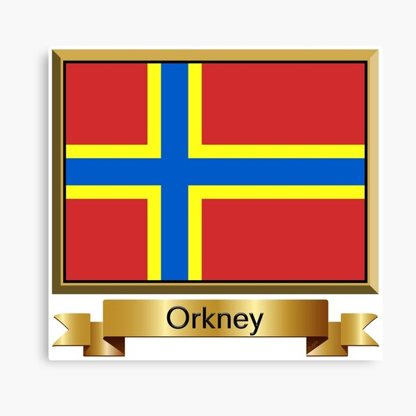 Orkney Named Flag Stickers, Gifts and Products Canvas Print