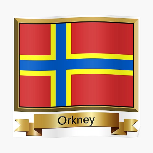 Orkney Named Flag Stickers, Gifts and Products Poster