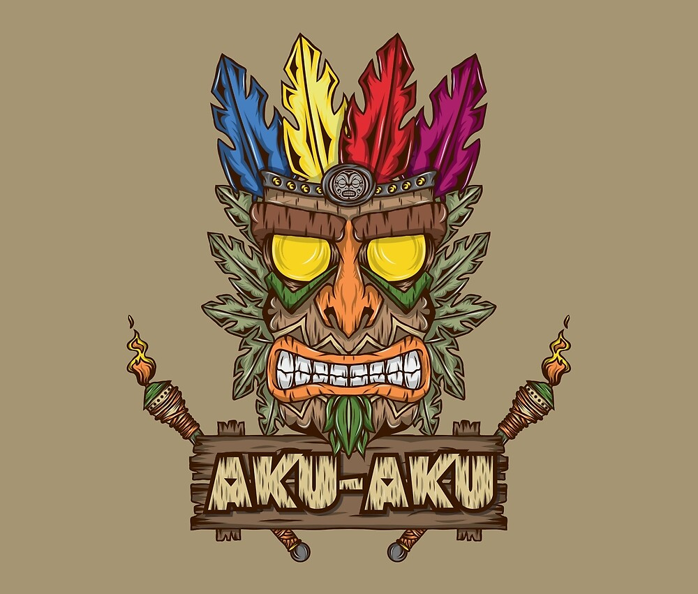 """Aku-Aku (Crash Bandicoot)"" by Pancho The Macho | Redbubble"