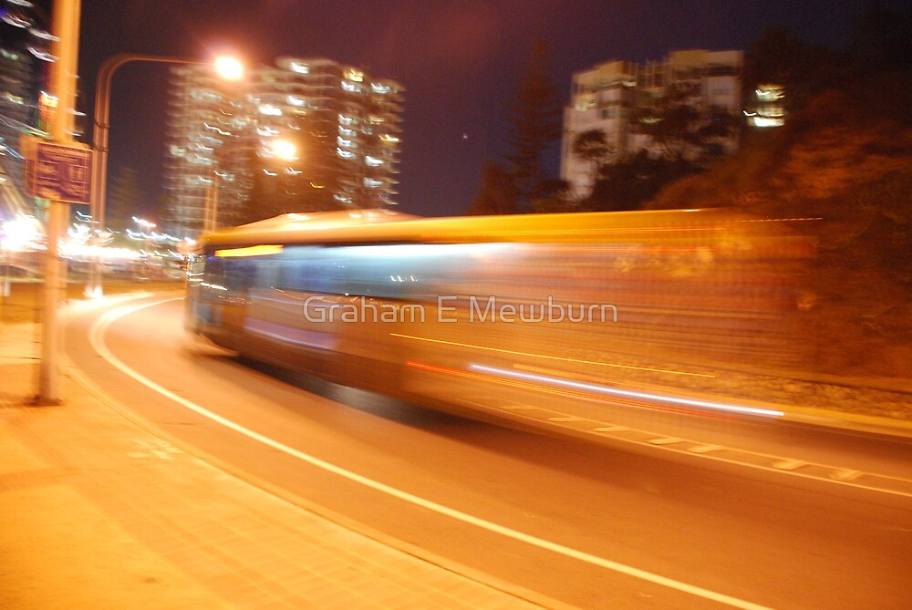 Night Bus Back to the Future by Graham E Mewburn