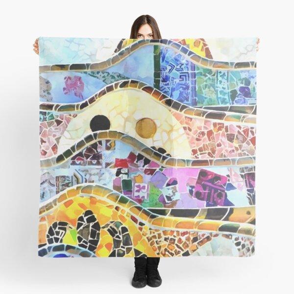Gaudi Barselona mosaic Scarf